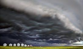 Storm Clouds Canada. Warning ominous skies Saskatchewan stock image
