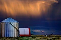 Storm Clouds Canada. Warning ominous skies Saskatchewan stock photo