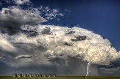 Storm Clouds Canada. Warning ominous skies Saskatchewan royalty free stock image