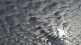 Storm clouds clouded dark blue sky stock photography
