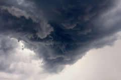 Storm Clouds. Cloudy skies just before a heavy thunder storm Stock Photo