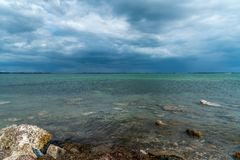Storm Clouds Coming Across the Bay. Make it look very ominous royalty free stock images