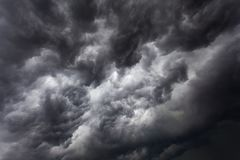 Storm clouds with contrast between dark gray and white. That threaten a heavy rain Royalty Free Stock Photography