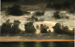 Storm Clouds Costa Rica. Sunset with Storm Clouds on Costa Rica's Pacific Coast royalty free stock image
