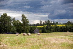 Storm clouds in the countryside Royalty Free Stock Photo