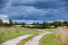 Storm clouds in the countryside Royalty Free Stock Photography