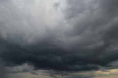 Storm clouds. Dark clouds before the storm Stock Photo