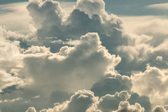 Storm clouds. Dark ominous grey storm clouds. Dramatic sky stock photography