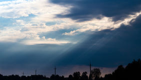 Storm clouds, dramatic sky Stock Photo