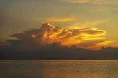 Free Storm Clouds During Sunset.Colorful Sunset Over Calm Sea Water Near Tropical Beach. Summer Vacation Concept. Island Phangan, Stock Image - 156585131