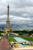 Storm clouds on the Eiffel Tower Stock Photography