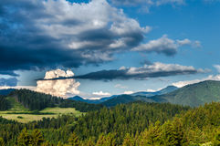 Storm clouds before evening Royalty Free Stock Photo