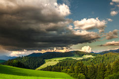 Storm clouds before evening Stock Photography