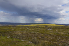 Storm clouds. Storm clouds in Finnish Lapland royalty free stock image