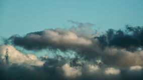 Storm clouds flying with wind. Footage stock video footage
