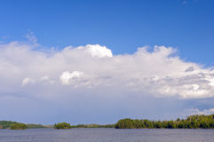 Storm Clouds forming over Canoe Country Stock Image