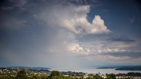 Storm clouds forming over Lake Constance, Germany - Time Lapse stock footage