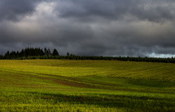 Storm Clouds. Forming over Oregon farm land Stock Image