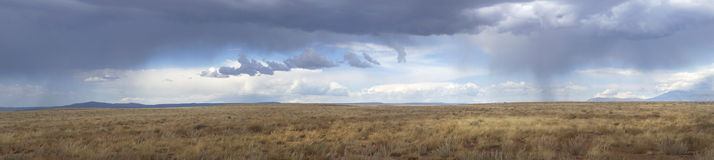 Storm clouds gathering over Route 66 in Arizona Royalty Free Stock Photography