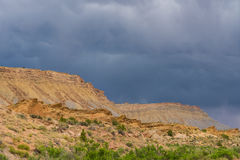 Storm clouds and gravel road in southern Utah Stock Photography