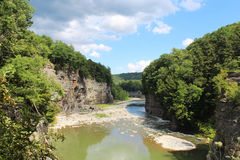 Storm clouds of Letchworth river gorge Stock Image