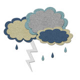 Storm clouds with lightning stock illustration