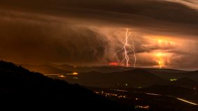 The thunderstorm royalty free stock images