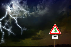 Storm clouds.  lightning Stock Photography