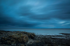 Storm clouds. Long exposure version of those moody blue storm clouds Royalty Free Stock Images