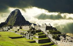 Storm clouds in Machu-Picchu Royalty Free Stock Image
