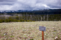Storm Clouds on Mount Washburn Royalty Free Stock Image
