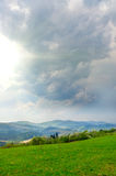 Storm clouds in the mountains. The storm clouds in the mountains stock image