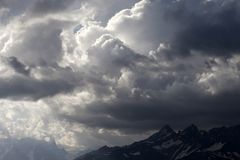 Storm clouds in mountains Royalty Free Stock Images