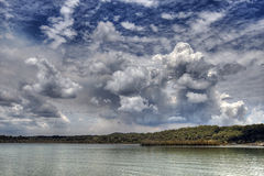Storm Clouds move in over Lake Royalty Free Stock Image
