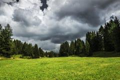 Storm clouds near Karerpass, Dolomites Stock Photo