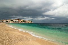 Storm clouds over the Adriatic sea, Croatia Stock Photos