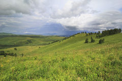 Storm clouds over the Altai mountains Royalty Free Stock Photo
