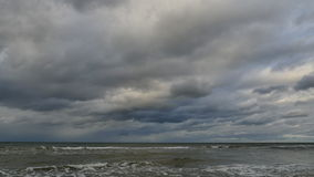Storm clouds over the Baltic sea - timelapse stock footage