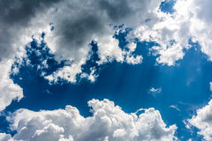 Storm Clouds Over Blue Sky Stock Images
