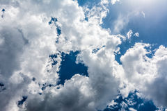Storm Clouds Over Blue Sky Royalty Free Stock Photos