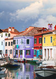 Storm clouds over Burano Stock Image