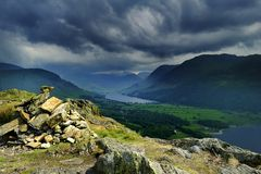 Storm clouds over Buttermere Stock Photography