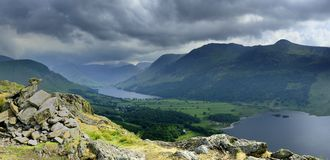 Storm clouds over Buttermere Stock Photos