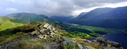Storm clouds over Buttermere Stock Image