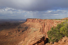 Storm clouds over Canyonlands in Utah Stock Photography