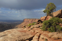 Storm clouds over Canyonlands in Utah Royalty Free Stock Photos