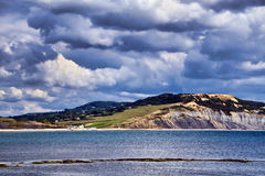 Storm Clouds Over Charmouth Royalty Free Stock Images