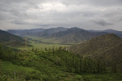 Storm clouds over Chuya ridge of Altai Mountains Stock Images