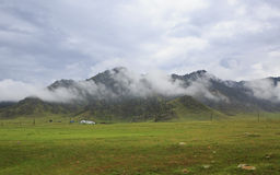Storm clouds over Chuya ridge of Altai Mountains Royalty Free Stock Photo