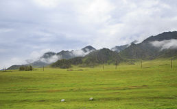 Storm clouds over Chuya ridge of Altai Mountains Stock Photos
